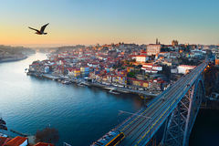 Porto at sunset Stock Image