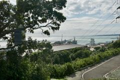 Porto Taranaki dal paritutu fotografie stock