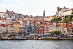 Free Porto, The Ribeira District, Portugal Old Town Ribeira View With Colorful Houses, Traditional Facades, Old Multi-colored Houses Stock Images - 181069104