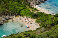 Porto Timoni, the most famous and beautifull beach in Corfu Royalty Free Stock Photography
