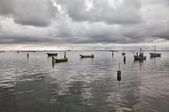Porto Tolle, Rovigo, Veneto, Italië: landschap van Adriatisch Se Stock Foto