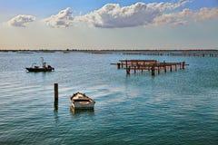 Porto Tolle, Rovigo, Veneto, Italië: marien landschap van Adri Stock Afbeelding