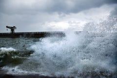 Porto tormentoso Fotos de Stock Royalty Free