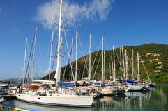 Porto Tortola do iate mim Foto de Stock