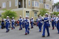 Porto Townsend, WA - 17 de maio de 2014: Parada do festival do rododendro Fotografia de Stock