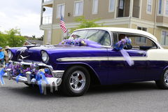Porto Townsend, WA - 17 de maio de 2014: Parada do festival do rododendro Imagens de Stock