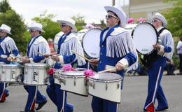 Porto Townsend, WA - 17 maggio 2014: Parata di festival del rododendro Immagini Stock Libere da Diritti