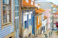 Porto traditional tiled street, Portugal Stock Photo