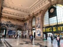 Porto train station royalty free stock photos