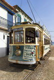 Street tram in Porto city. Front of a traditional street tram in the city of Porto, Portugal royalty free stock photo