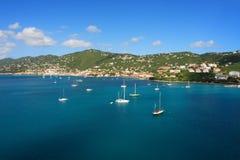Porto tropical fotografia de stock royalty free
