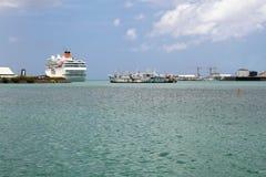 In porto Trou Fanfaron Port Louis, Isola Maurizio Fotografie Stock Libere da Diritti