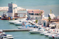 Porto turistico rodi garganico italy puglia Royalty Free Stock Images