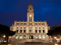 Porto urząd miasta Zdjęcia Stock