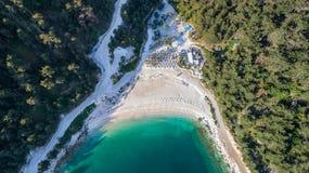 Porto Vathy strand, Thassos ö, Grekland Royaltyfri Foto