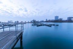 Porto vazio na manhã Foto de Stock Royalty Free