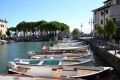 Porto Vecchio Desenzano Garda lake. Seaview over the Garda lake Desenzano Royalty Free Stock Photo