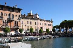 Porto Vecchio Desenzano Garda lake. Seaview over the Garda lake Desenzano Stock Photos
