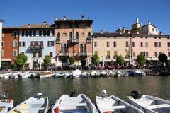 Porto Vecchio Desenzano Garda lake. Seaview over the Garda lake Desenzano Stock Photography