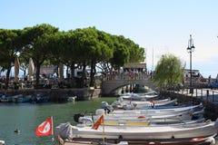 Porto Vecchio Desenzano Garda lake. Seaview over the Garda lake Desenzano Royalty Free Stock Images