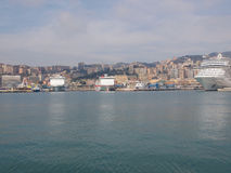 Porto Vecchio old harbour in Genoa Stock Photos