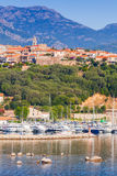 Porto-Vecchio town, coastal cityscape Stock Photography