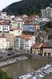 Porto velho da cidade de Mutriku, país Basque, Espanha fotos de stock royalty free