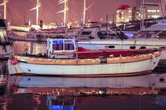 Porto velho do barco foto de stock