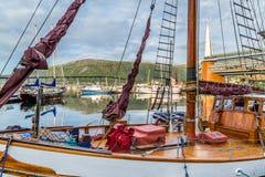 Porto velho em Tromso Noruega Foto de Stock