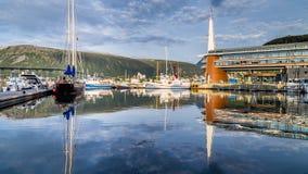Porto velho em Tromso Noruega Imagens de Stock Royalty Free