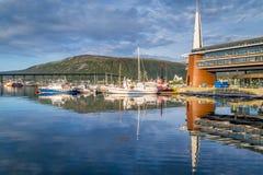 Porto velho em Tromso Noruega Fotografia de Stock