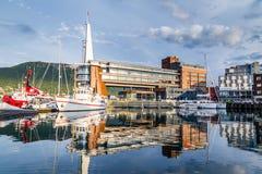Porto velho em Tromso Noruega Fotos de Stock