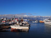 Porto velho Islândia de Reykjavik fotografia de stock