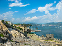 Porto Venere aerial view Stock Images