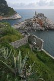 Porto venere, the church on headland. Stock Photography