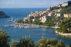 Porto Venere in Liguria coast Stock Photos