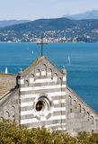 Porto Venere Liguria Italy - San Lorenzo Church Royalty Free Stock Images