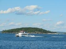 Porto vicino di sorveglianza Maine U.S.A. di Antivari della barca della balena Fotografia Stock