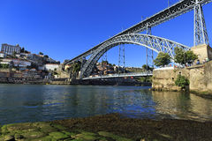 Porto View with D. Luis Bridge, in the north of Portugal. Royalty Free Stock Image