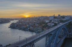 Porto View at dusk Royalty Free Stock Photo
