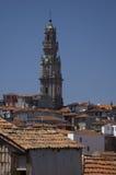 Porto view. Porto, Portugal. Clerigos tower and church. Porto, Portugal Stock Images