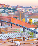 Porto view restaurant, Portugal Stock Image