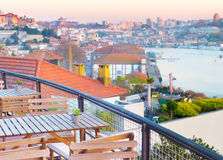 Porto view restaurant, Portugal Stock Images