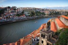Porto and Vila Nova de Gaia Cityscape Stock Photos