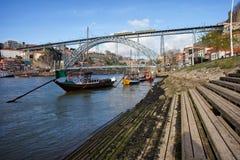 Porto and Vila Nova de Gaia Cityscape Stock Photo