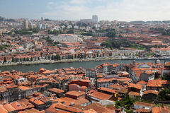 Porto and Vila Nova de Gaia, Portugal. View over Porto and Vila Nova de Gaia, Portugal. Photo taken at 1st of July 2010 Royalty Free Stock Image