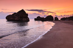 Porto Zoro beach sunrise Stock Photo