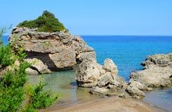 Porto Zorro, Seashore in Zakynthos island Royalty Free Stock Photo