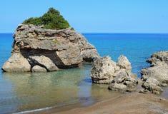 Porto Zorro, Seashore in Zakynthos island Royalty Free Stock Photos