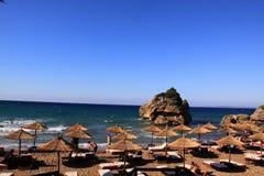 Porto Zorro strand op het eiland van Zakynthos, Griekenland Royalty-vrije Stock Foto
